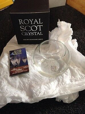 Royal Scot crystal bowl
