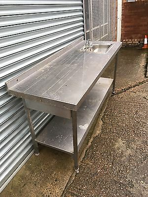Stainless Steel Catering Sink Table Big
