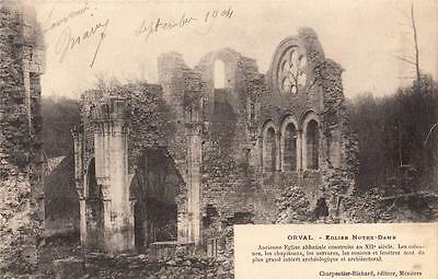 F44.Vintage Postcard.Ruins of the Church at Orval Abbaye. Luxembourg.