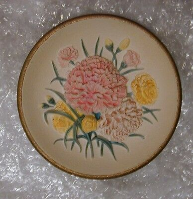 """Bossons 6"""" Carnations Wall Plaque"""