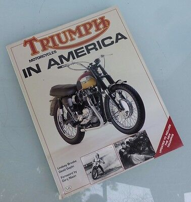 Triumph In America Book Manual Pre & Unit Bonneville Tr6 Tiger T120 Trophy T100