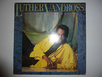 "Luther Vandross ‎– 'Give Me The Reason' 12"" vinyl album LP 1986 HOLLAND. VG++/VG"