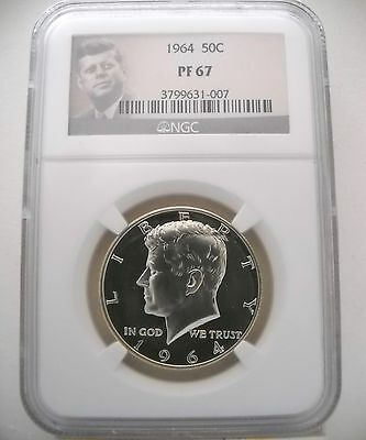 1964 Ngc Pf67 Proof Kennedy Half Excellent Eye Appeal!