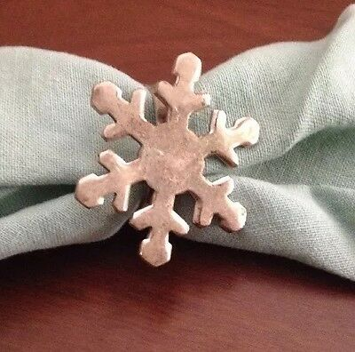 Single Silver Plated Snowflake Napkin Ring