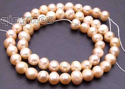 """SALE 7-8mm natural Pink Freshwater Pearl Loose Beads 14"""" string-los391 Free ship"""