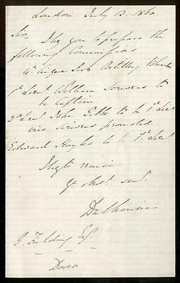 James Andrew Broun-Ramsay Marquess Dalhousie [1801-1885] Signed Letter 13/7/1860