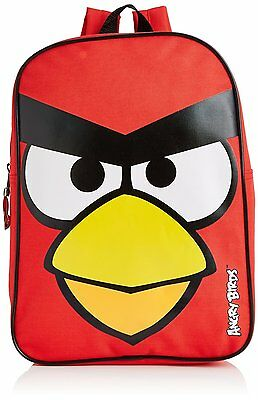 Angry Bird Boys Backpack School Bag Rucksack Red Bag Free P&P
