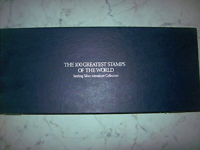Franklin Mint 100 Greatest Stamps of the World in Silver