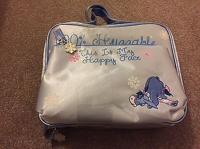 Disney Store Exclusive Eeyore Snowflakes This Is My Happy Face Cosmtics/Washbag