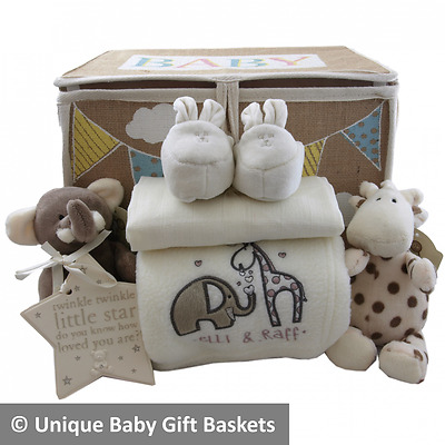 Baby gift basket/hamper unisex nappy cake baby shower new baby gift unique
