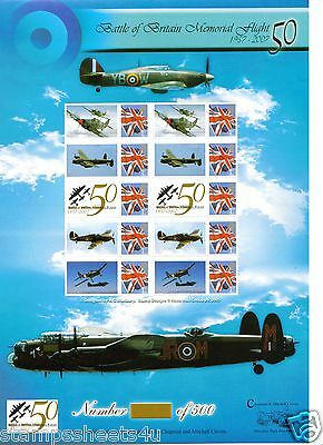 BC106(a) BATTLE BRITAIN MEMORIAL FLIGHT Bletchley Park UN-NUMBERED SMILERS Sheet
