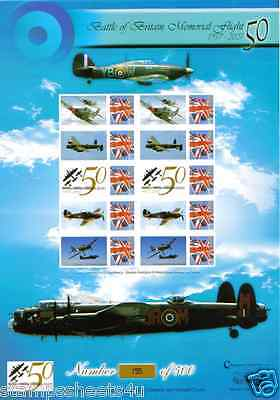 BC106 BATTLE Of BRITAIN MEMORIAL FLIGHT Bletchley Park NUMBERED SMILERS Sheet