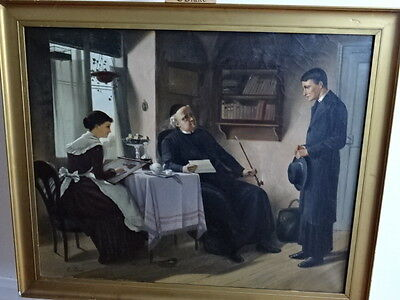 19th century oil painting E BARIE. FRENCH ARTIST. SOLD IN SOTHEBY'S