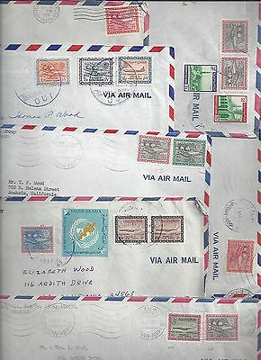 Saudi Arabia 1970 Collection Of 21 Aramco Airmail Covers All Franked W/air Dam &
