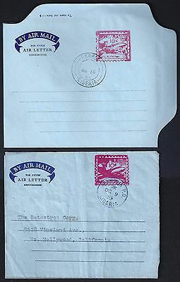 LEBERIA 1959 AIR LETTERS FG 10 & FG 10a WITH FDC CANCELS