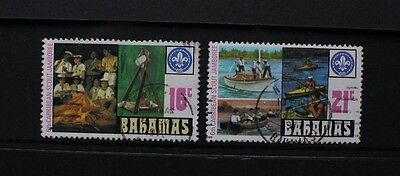 BAHAMAS 1977 Caribbean Scout Jamboree. Set of 2. USED. SG498/499.