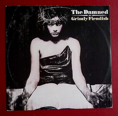 """THE DAMNED - Grimly Fiendish (Spic 'n' Span mix) (1985 12"""" single in PS)"""
