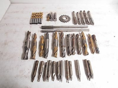 Lot of Machinist Tools Cutters End Mill Tapered Drill Bits Reamers Keyseat