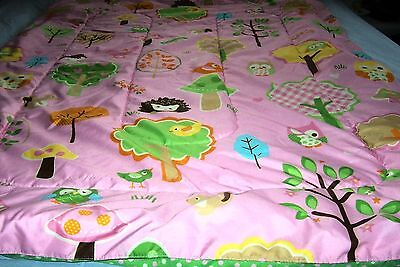 Circo LOVE N NATURE Pink Owl Forest Animal Baby Crib Toddler Bed Comforter