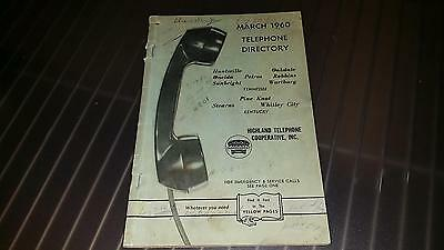 Vintage 1960 Highland Telephone Cooperative Directory Tennessee Kentucky