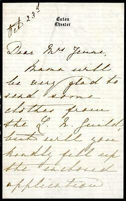 PRINCESS MARY of TECK [1833-1897] EATON, CHESTER SIGNED LETTER to MRS JEUNE
