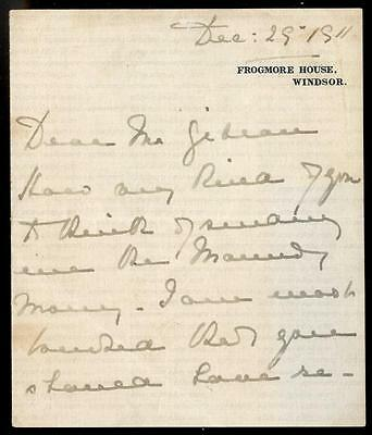 Princess Marie Louise [1844-1925] Signed Letter Vicar Little Horstead, Uckfield
