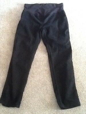 JoJo Maman Be'Be ladies casual lightweight black maternity trousers Size 12