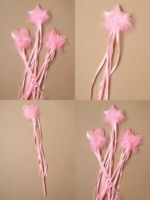 Pack Of 12 Pink Ribbon Wands, Heart, Star, Butterfly : Sp-8483 Pk12