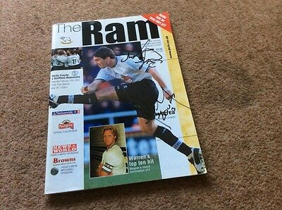 Signed Derby county programme 2003