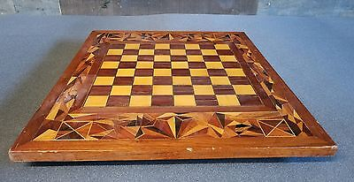 VINTAGE Inlaid Chess Board