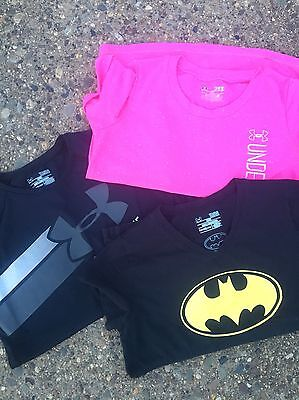 Girls Under Armour Shirts.  Youth Large.  VGUC!