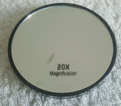 NEW Rare Genuine magnifying mirror x20 with Suction cups  FREE p&p