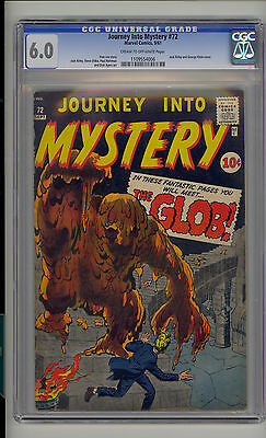 Journey into Mystery #72 CGC 6.0 FN Unrestored Atlas Marvel Scarce CR/OW Pages