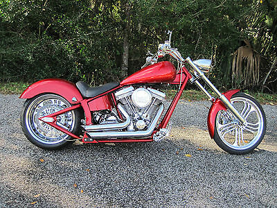"2005 Custom Built Motorcycles Chopper  2005 Demon Choppers Custom Rev Tech 100"" Pro Street!  Deliv Poss to FL/GA/SC/NC"