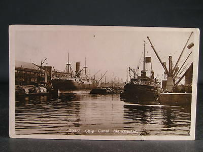 no 12  c1914  Photo Postcard Canal Manchester Ship Canal