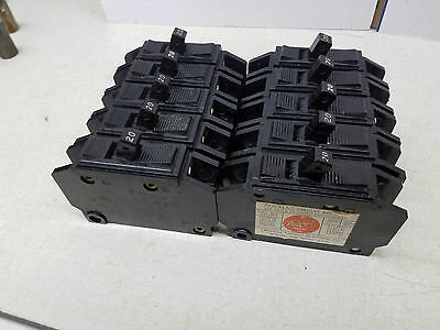 10) Federal quicklag 1 pole 20 amp breakers perfect NQ11020