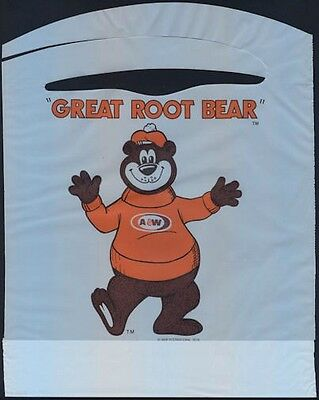 """1978 The """"Great Root Bear"""" A & W Root Beer Mascot Advertising Bib"""
