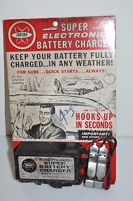 Vintage Fedtro Super Car Battery Charger in Original Packing 1963