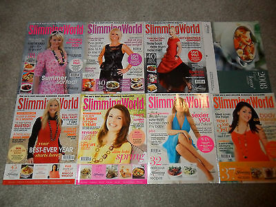 All 7 SLIMMING WORLD Magazines From 2008 + Calendar