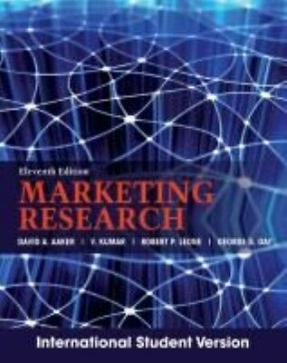 Marketing Research by David A Aaker Paperback Book (English)