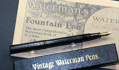 Waterman #12 POC BHR Flexible F-BB W-2A Nib  the clip is missing sold as is