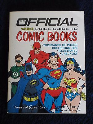Official 1983 Price Guide to Comic Books, 1982, first print