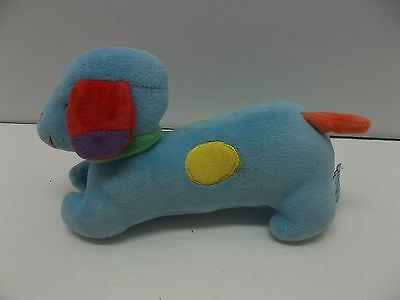 "Eden 7"" Long Blue Spotted Dachshound Rattle Dog"