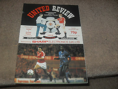 Manchester United v Crystal Palace 9/12/89