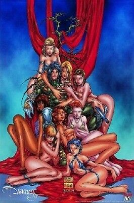 THE DARKNESS POSTER   SeXy Girls  Top Cow Fathom ~ Michael Turner ~ OOP 1998