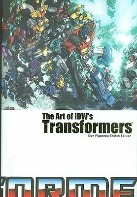 ART OF IDWS TRANSFORMERS HC ~ Gold FOIL  LIMITED  SKETCH  EDITION  New