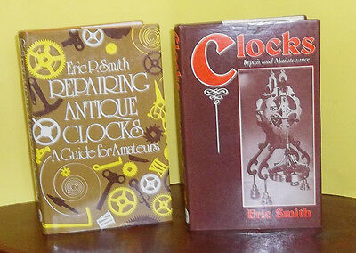 LOT OF 2 CLOCK REPAIR BOOKS BY ERIC SMITH~Profusely Illustrated