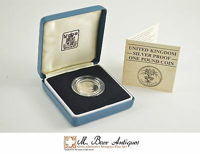 1985 Great Britain Silver Proof 1 Pound Coin *0254