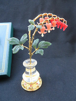 "Joan Rivers Imperial Flowers ""Bleeding Hearts"" with Vase RETIRED RARE MIB"