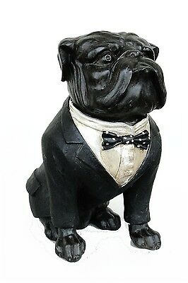 Bull Dog sculpture statue with bow tie in tuxedo Cute bulldog